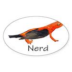 Newt + Bird = Nerd Sticker (Oval 10 pk)