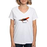 Newt + Bird = Nerd Women's V-Neck T-Shirt