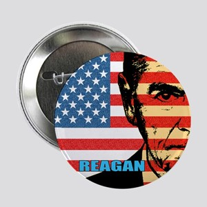 "Reagan - Flag face 2.25"" Button (10 pack)"