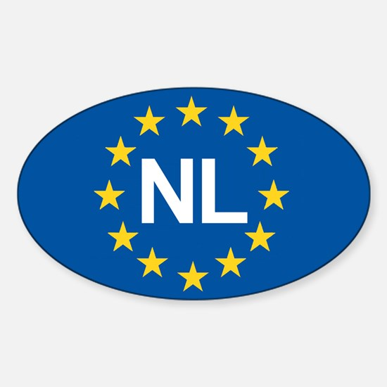 Holland NL EU Sticker (Oval)