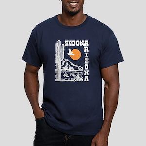Sedona Arizona Men's Fitted T-Shirt (dark)