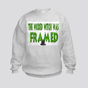 The Wicked Witch Was Framed! Kids Sweatshirt