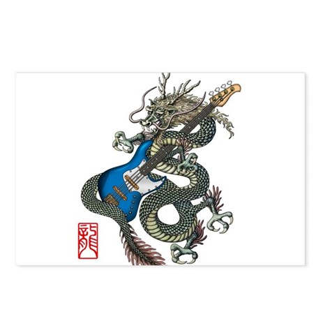 dragon bass Postcards (Package of 8)