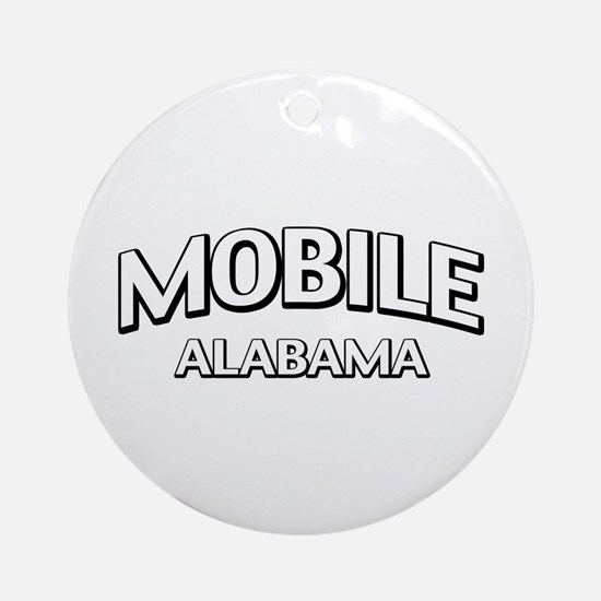 Mobile Alabama Ornament (Round)