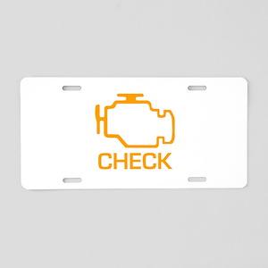 Check Aluminum License Plate