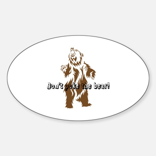 Funny Angry baby Sticker (Oval)