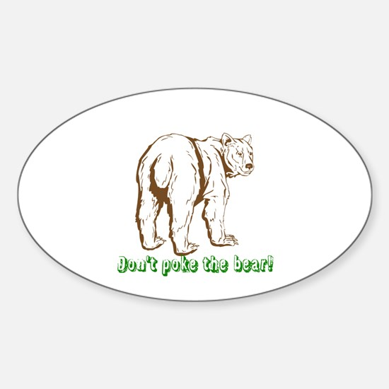 Cool Angry baby Sticker (Oval)