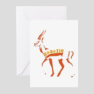 Gazelle (sienna) Greeting Cards (Pk of 20)
