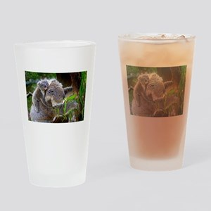 Baby Koala Bear with mom Drinking Glass