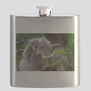 Baby Koala Bear with mom Flask