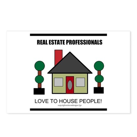 Real Estate Professionals Lov Postcards (Package o