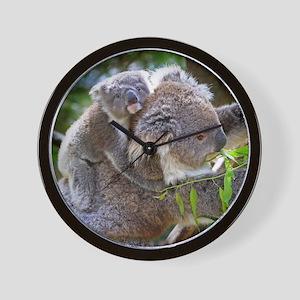 Baby Koala Bear with mom Wall Clock