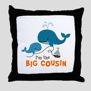 Big Cousin - Whale Throw Pillow