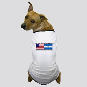 USA - El Salvador Unite! Dog T-Shirt