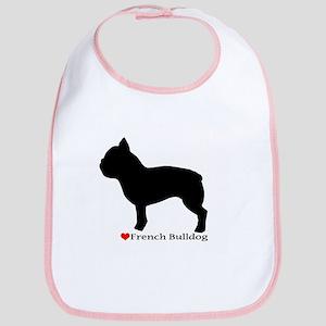 French Bulldog Silhouette Bib