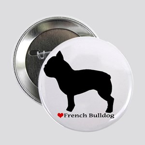 "French Bulldog Silhouette 2.25"" Button"