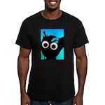 Thoc Blu Cat Men's Fitted T-Shirt (dark)