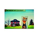 Thoc House Cat Rectangle Magnet Magnets