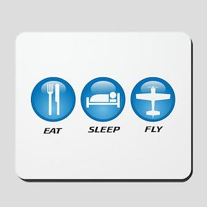 Eat Sleep Fly II Mousepad