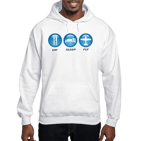 Eat Sleep Fly II Hooded Sweatshirt