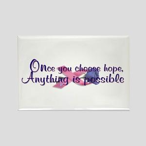 Choose Hope Rectangle Magnet
