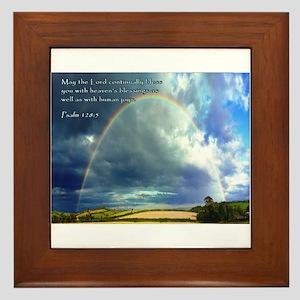 Psalm 128:5 Framed Tile