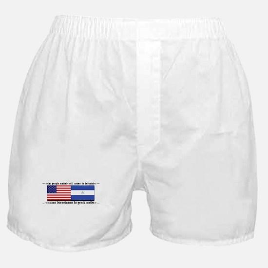 USA - Nicaragua Unite!!! Boxer Shorts