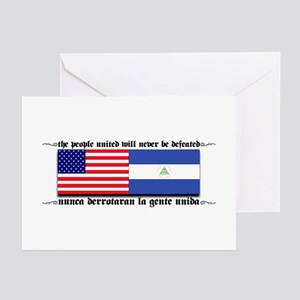 USA - Nicaragua Unite!!! Greeting Cards (Package o