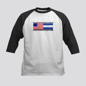 USA - Nicaragua Unite!!! Kids Baseball Jersey