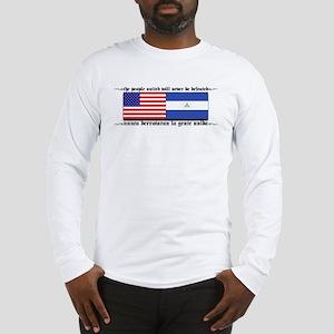 USA - Nicaragua Unite!!! Long Sleeve T-Shirt