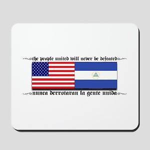 USA - Nicaragua Unite!!! Mousepad