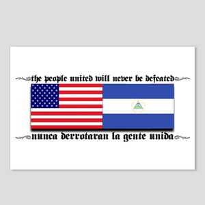 USA - Nicaragua Unite!!! Postcards (Package of 8)
