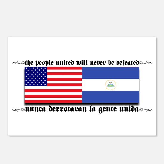 USA - Nicaragua Unite!!! Postcards (Package of 8)