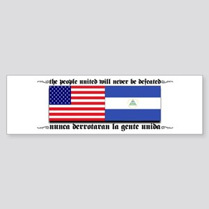 USA - Nicaragua Unite!!! Bumper Sticker