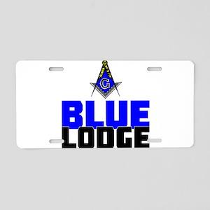 Blue Lodge Aluminum License Plate