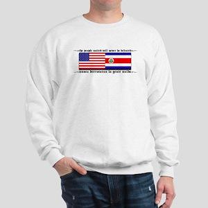 USA - Costa Rica unite!!! Sweatshirt