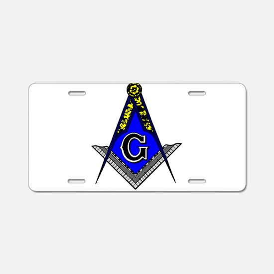 Cute Masonic lodge Aluminum License Plate