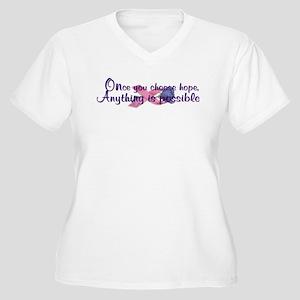 Choose Hope Women's Plus Size V-Neck T-Shirt