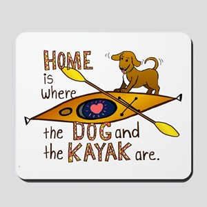 Dog and Kayak Mousepad