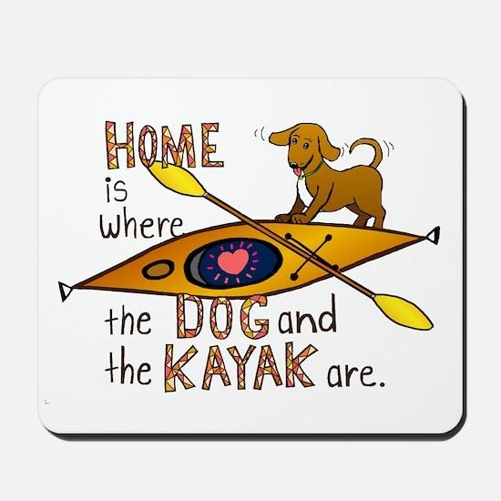 Dog and Kayak Mousepad