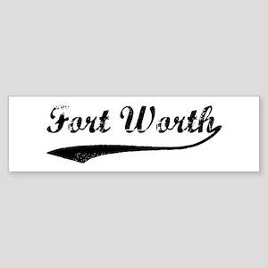 Vintage Fort Worth Bumper Sticker
