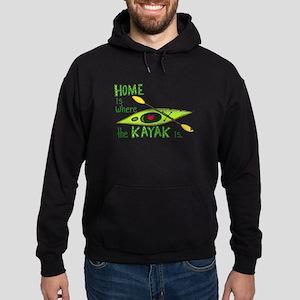 Home is Where the Kayak Is Hoodie (dark)