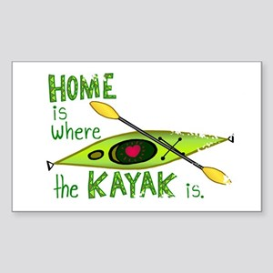 Home is Where the Kayak Is Sticker (Rectangle)