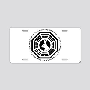 Lost Looking Glass Boat Aluminum License Plate