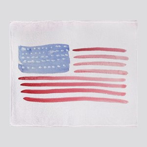 Patriotic Usa Flag Throw Blanket