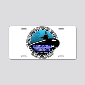 Deep Dark Deadly Aluminum License Plate