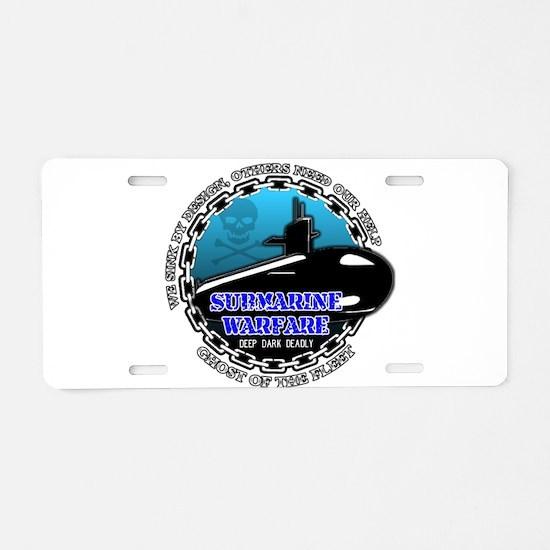 Deep Dark Deadly Aluminum License Plate