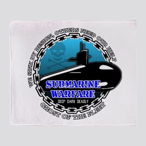 Deep Dark Deadly Throw Blanket