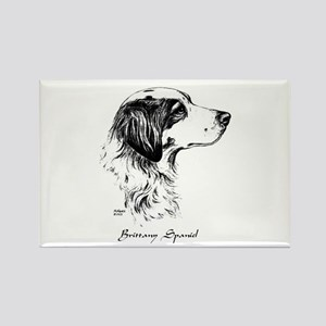 Brittany Spaniel Rectangle Magnet