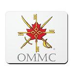 Badge, Black Lettering Mousepad